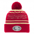 "San Francisco 49ers Youth NFL ""Reflective"" Cuffed Knit Hat w/ Pom"