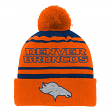 "Denver Broncos Youth NFL ""Reflective"" Cuffed Knit Hat w/ Pom"