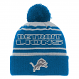 "Detroit Lions Youth NFL ""Reflective"" Cuffed Knit Hat w/ Pom"