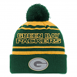 "Green Bay Packers Youth NFL ""Reflective"" Cuffed Knit Hat w/ Pom"