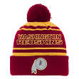 "Washington Redskins Youth NFL ""Reflective"" Cuffed Knit Hat w/ Pom"