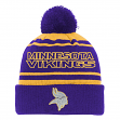 "Minnesota Vikings Youth NFL ""Reflective"" Cuffed Knit Hat w/ Pom"