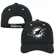 "Miami Dolphins Youth NFL ""Black & White"" Structured Adjustable Hat"