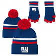 """New York Giants Youth NFL """"Perfect Match""""  Knit Gloves & Cuffed Hat Gift Set"""