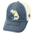 "Michigan Wolverines NCAA Top of the World ""United"" Adjustable Mesh Back Hat"