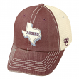 "Texas A&M Aggies NCAA Top of the World ""United"" Adjustable Mesh Back Hat"