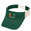 "Miami Hurricanes NCAA Top of the World ""Sandstone"" Mesh Back Visor"