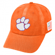 "Clemson Tigers NCAA Top of the World ""Anthem"" Acid Washed Slouch Hat"