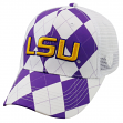 """LSU Tigers NCAA Top of the World """"Get Loud"""" Argyle & Mesh Back Hat"""