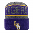 "LSU Tigers NCAA Top of the World ""Below Zero 2"" Cuffed Knit Hat"