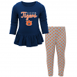 "Auburn Tigers NCAA Toddler Girls ""Tiny Trainer"" Long Sleeve & Pants Set"