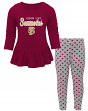 "Florida State Seminoles NCAA Toddler Girls ""Tiny Trainer"" Long Sleeve & Pants Set"