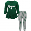 Michigan State Spartans NCAA Toddler Girls Tiny Trainer Long Sleeve & Pants Set