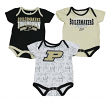 "Purdue Boilermakers NCAA ""Playmaker"" Infant 3 Pack Bodysuit Creeper Set"