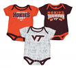 "Virginia Tech Hokies NCAA ""Playmaker"" Infant 3 Pack Bodysuit Creeper Set"