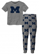 "Michigan Wolverines Youth NCAA ""Overtime"" Pajama T-shirt & Sleep Pant Set"