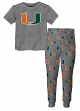 "Miami Hurricanes Toddler NCAA ""Game Winner"" Pajama T-shirt & Sleep Pant Set"