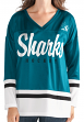 "San Jose Sharks Women's G-III NHL ""Game Changer"" Fashion Hockey Jersey"