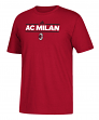"AC Milan Adidas Soccer ""Dassler Local"" Men's Short Sleeve T-Shirt"
