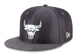 "Chicago Bulls New Era 9FIFTY NBA 2017 On-Court ""Graphite"" Snapback Hat"