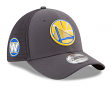 Golden State Warriors New Era NBA 39THIRTY 2017 On Court Graphite Flex Fit Hat