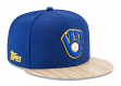 "Milwaukee Brewers New Era 9FIFTY MLB Cooperstown ""1987 Topps"" Snapback Hat"