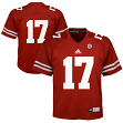 Nebraska Cornhuskers Adidas NCAA #17 Youth Replica Red Football Jersey
