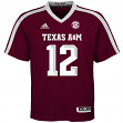 Texas A&M Aggies Adidas NCAA #12 Youth Replica Maroon Football Jersey