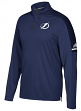 Tampa Bay Lightning Adidas NHL Men's 2017 Authentic Pro 1/4 Zip Wind Shirt