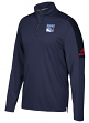 New York Rangers Adidas NHL Men's 2017 Authentic Pro 1/4 Zip Wind Shirt