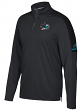 San Jose Sharks Adidas NHL Men's 2017 Authentic Pro 1/4 Zip Wind Shirt