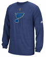 "St. Louis Blues Adidas NHL ""Primary Position"" Climalite Long Sleeve T-Shirt"