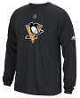 "Pittsburgh Penguins Adidas NHL ""Primary Position"" Climalite Long Sleeve T-Shirt"