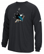 "San Jose Sharks Adidas NHL ""Primary Position"" Climalite Long Sleeve T-Shirt"