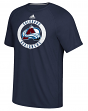 "Colorado Avalanche Adidas NHL ""Practice""  Climalite Performance S/S T-Shirt"