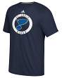 "St. Louis Blues Adidas NHL ""Practice""  Climalite Performance S/S T-Shirt"