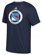 "New York Rangers Adidas NHL ""Practice""  Climalite Performance S/S T-Shirt"
