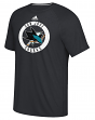 "San Jose Sharks Adidas NHL ""Practice""  Climalite Performance S/S T-Shirt"