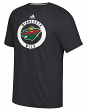 "Minnesota Wild Adidas NHL ""Practice""  Climalite Performance S/S T-Shirt"