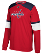 "Washington Capitals Adidas NHL ""Platinum"" Men's Long Sleeve Jersey Shirt"