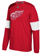 "Detroit Red Wings Adidas NHL ""Platinum"" Men's Long Sleeve Jersey Shirt"