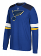 "St. Louis Blues Adidas NHL ""Silver"" Men's Long Sleeve Jersey Shirt"