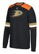 "Anaheim Ducks Adidas NHL ""Silver"" Men's Long Sleeve Jersey Shirt"