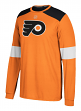 "Philadelphia Flyers Adidas NHL ""Silver"" Men's Long Sleeve Jersey Shirt"