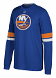 "New York Islanders Adidas NHL ""Silver"" Men's Long Sleeve Jersey Shirt"
