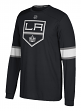 "Los Angeles Kings Adidas NHL ""Silver"" Men's Long Sleeve Jersey Shirt"