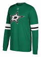"Dallas Stars Adidas NHL ""Silver"" Men's Long Sleeve Jersey Shirt"