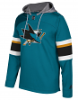 "San Jose Sharks Adidas NHL Men's ""Platinum"" Jersey Hooded Sweatshirt"