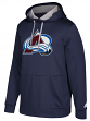 "Colorado Avalanche Adidas NHL Men's ""Checking"" Pullover Hooded Sweatshirt"
