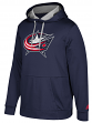 "Columbus Blue Jackets Adidas NHL Men's ""Checking"" Pullover Hooded Sweatshirt"